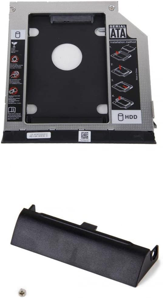 Homyl 2nd Hard Drive Caddy with HDD Caddy Cover Bezel for Dell E6420 with Ejector
