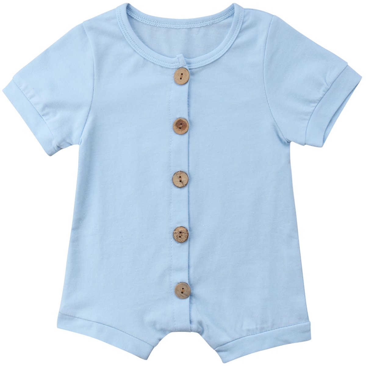 Aunavey Baby Boy Girl Short Sleeve Romper Jumpsuits Summer Casual Outfits