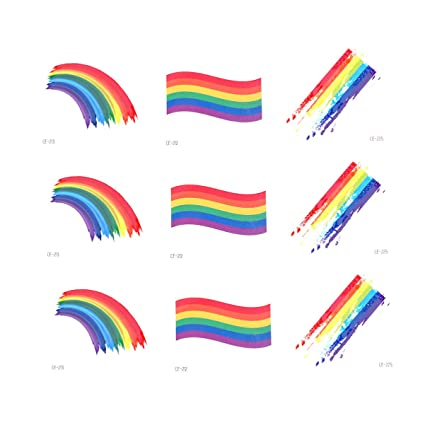 Toyvian - 24 hojas de orgullo de arcoíris, pintura temporal para ...