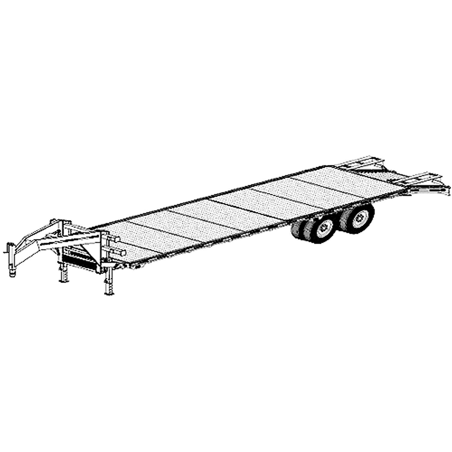 32 'x 102'' Gooseneck Flat Deck Trailer Plans Blueprints, Model 5232 by Master Plan & Design