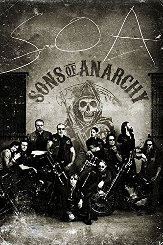 Sons of Anarchy - TV Show Poster/Print (The Gang - Vintage/Retro Design) (Size: 24 inches x 36 inches)