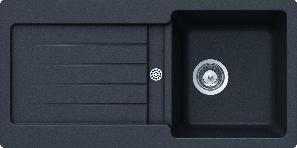 Schock TYPD100SAGNE - Fregadero de un seno, color: negro