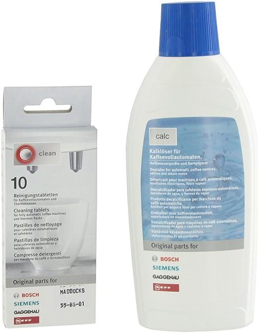 Tableta de limpieza y líquido descalcificador Kit para Bosch ...