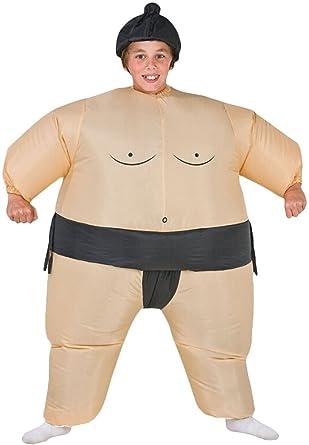 Kids niños Sumo hinchable Luchador fan-operated disfraz ...