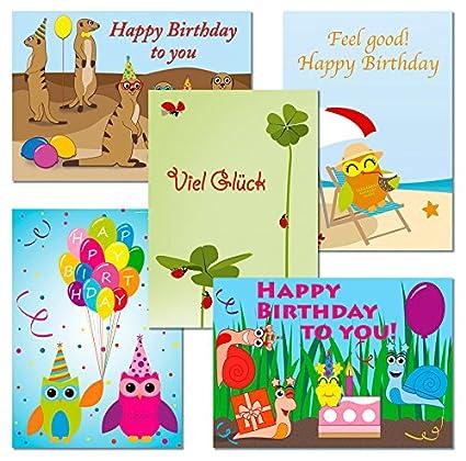 Juego de 10 tarjetas postales - búhos - Suricato - Caracoles ...