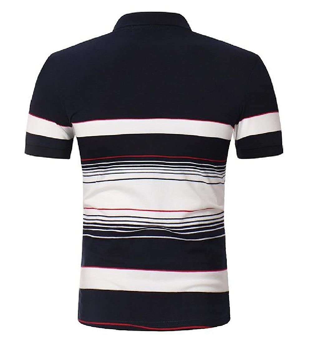 BAYY Mens Pullover Polo Striped Modern Relaxed-Fit Cozy Tee Shirts Tunic Tops