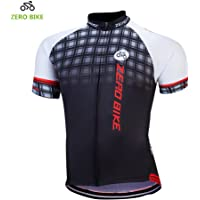 ZEROBIKE Men's Short Sleeve Breathable Cycling Jersey Bike Clothes Sportswear Polyester Fabric