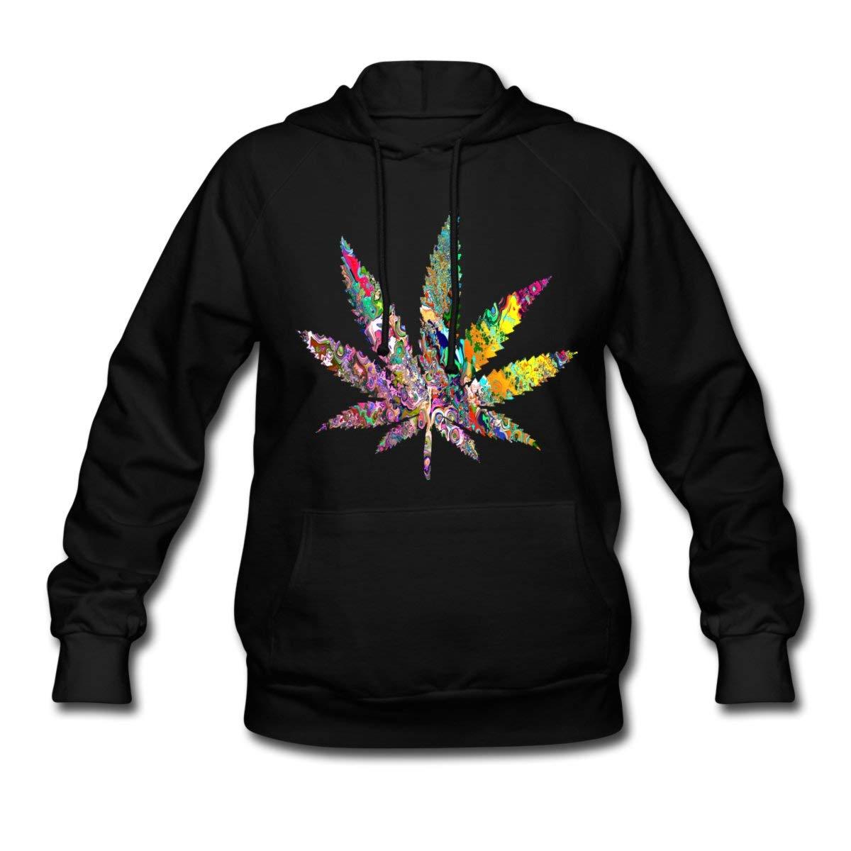 Cannabis Leaf Psychedelic Women's Hoodie