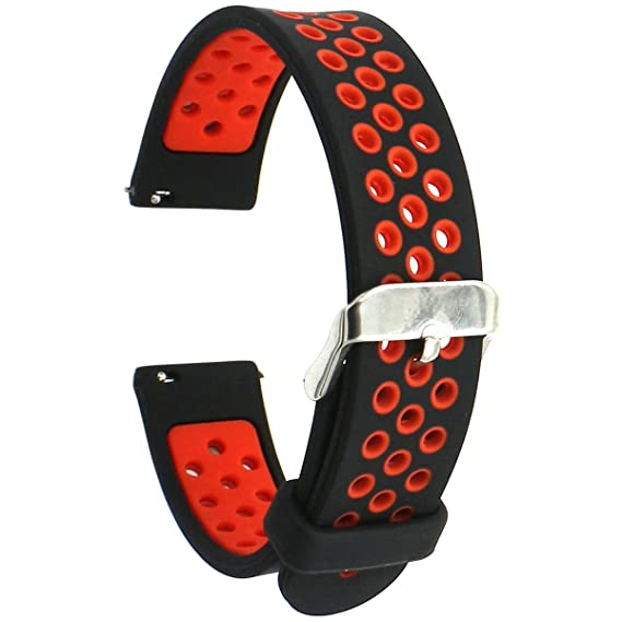 Eletespt 18MM Watch Bands Quick Release Silicone Replacement Strap For Nokia Health WatchHuawei