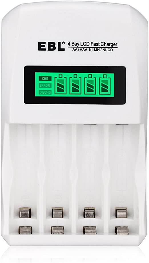 Amazon.com: Combo de cargador de batería EBL 907 ...