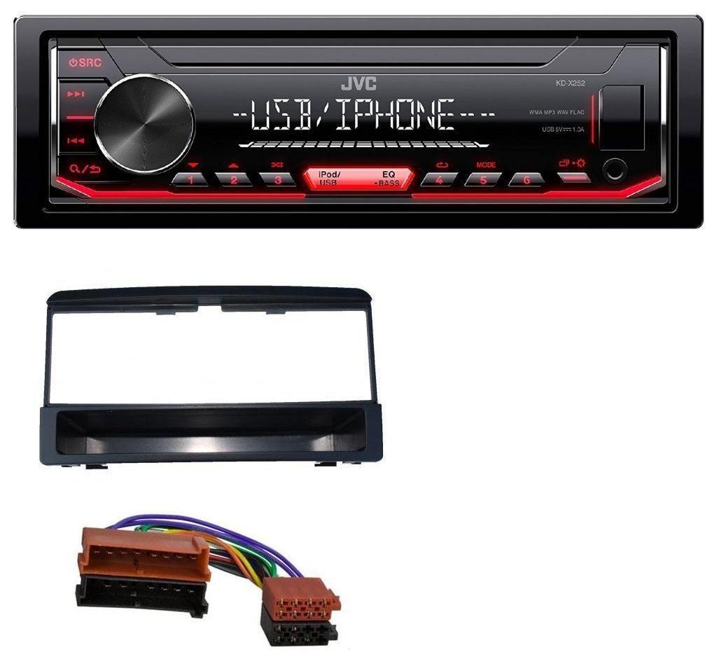caraudio24 JVC KD-X252 1DIN Aux USB MP3 Autoradio fü r Ford Focus Cougar Escort Fiesta Ablagefach
