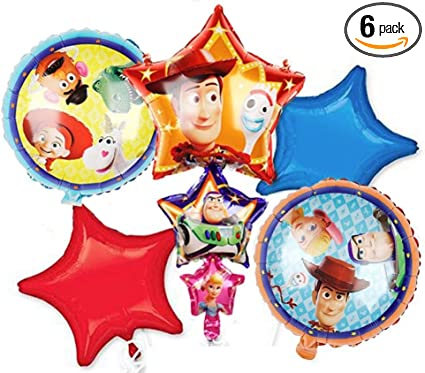 Viva Party Balloon Collection Toy Story 4 Birthday Party Supplies Balloon Bouquet Select from Age 1 to 9