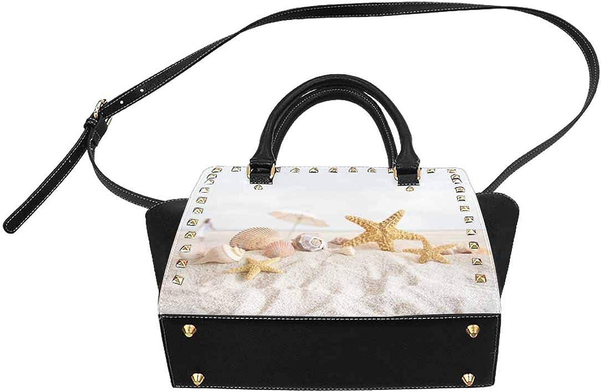 InterestPrint Womens St Patricks Day Pattern Rivet Shoulder Handbag Shoulder Bags