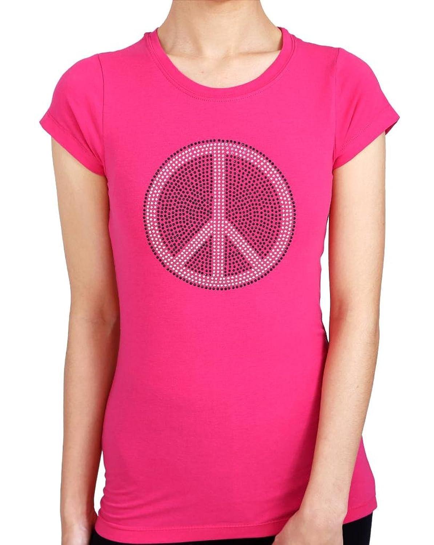 PEACE Rhinestone/ stud Womens T-Shirts