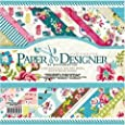 KABEER ART Designer Beautiful Pattern Printed Papers for Art and Craft, 8x8 Inches
