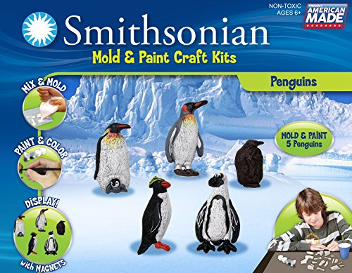Smithsonian Penguins Perfect Cast Cast, Paint, Display and Learn Craft Kit