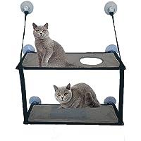 VANELIFE Katzen-Hängematte, Katzenbett mit starkem Saugnapf, Fensterstange, für den Winter, für den Sommer, einlagig & doppellagig