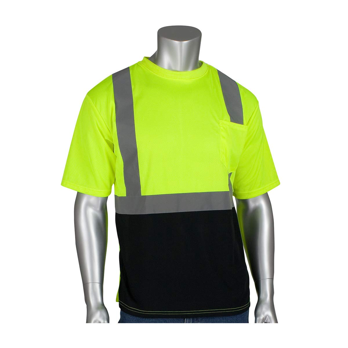 Protective Industrial Products 3X Hi-Viz Yellow/Hi-Viz Orange 1 Polyester/Birdseye Mesh Two-Tone Short Sleeve Shirt
