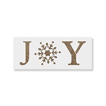 Joy Snowflake Stencil Template For Crafting Reusable Stencils For Painting In Small Large Sizes