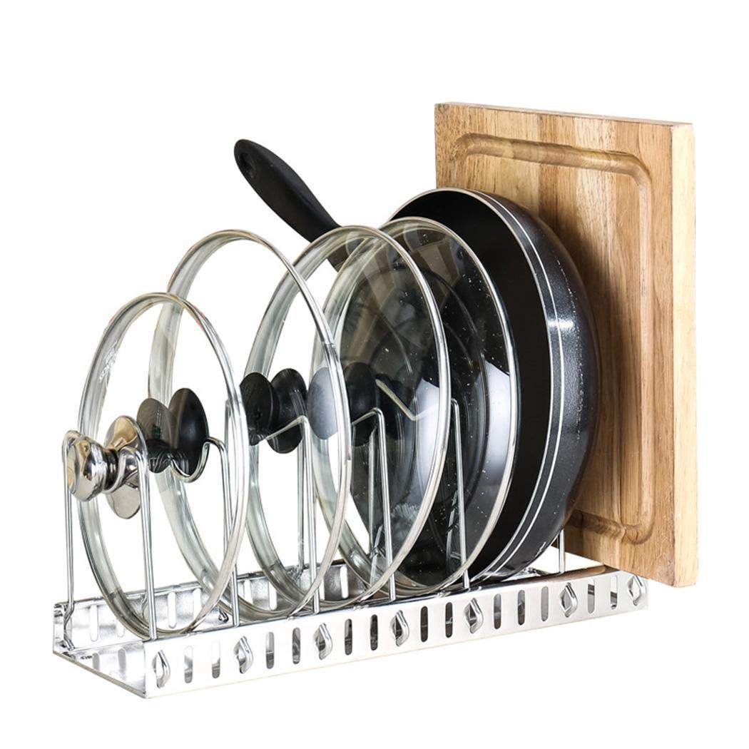 neudas Kitchen Stainless Steel Pot Cover Rack Multi-Function Cutting Board Rack Tie Racks