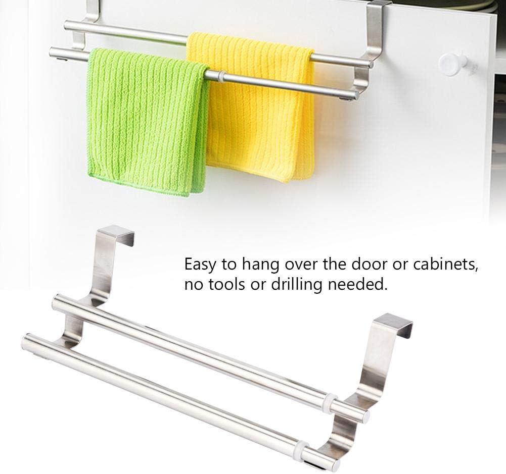 Wifehelper Toallero telesc/ópico de doble capa de acero inoxidable para colgar en la pared del ba/ño toallero de mano organizador para toallas de ba/ño
