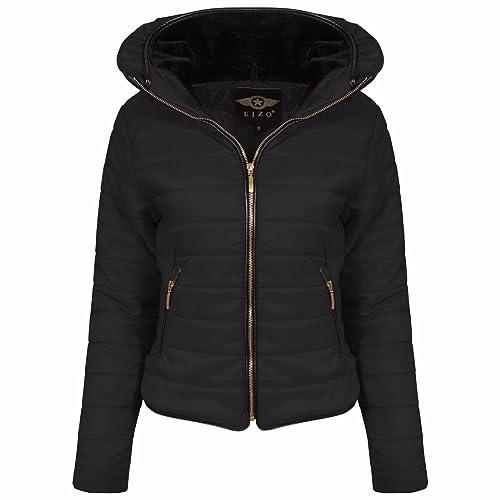 ASBAHFASHION - Chaqueta - chaqueta guateada - para mujer negro negro