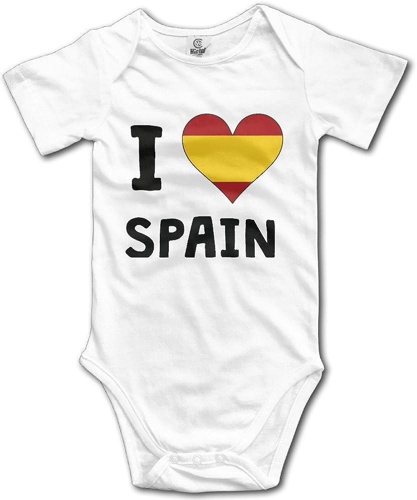 CCPA333 I Love España Me bandera de corazón bebé Onesies - negro -: Amazon.es: Ropa y accesorios