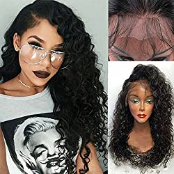Doren Loose Curls Lace Front Human Hair Wigs with Baby Hair For Black Women 130% Density Virgin Brazilian Hair Natural Color Curly 22 Inches