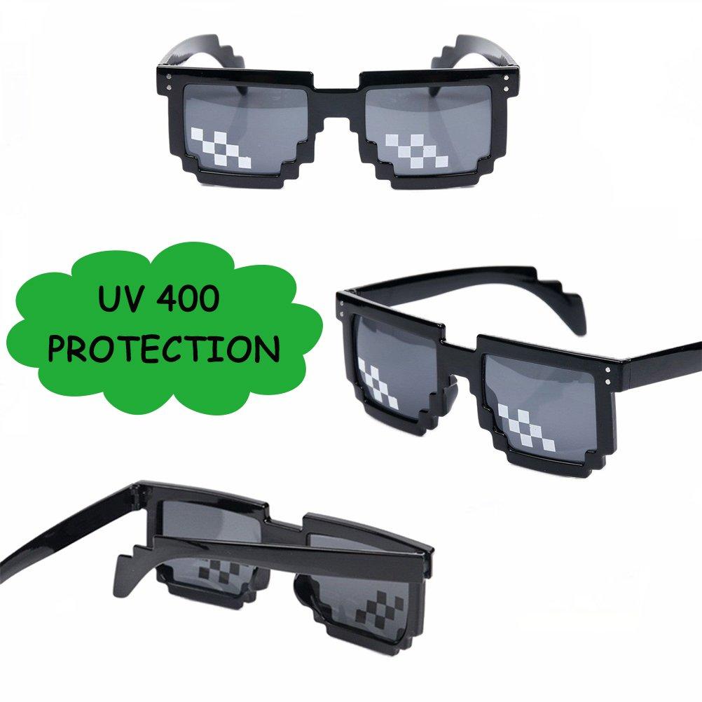 fb58679b78 D&D DD Mosaico 8-bits Pixelado Gafas de Sol, Mujeres Hombres Unisex  Protección UV 400 Los Anteojos con Marco Negro: Amazon.es: Juguetes y juegos