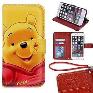 Amazon Com Iphone 6 Wallet Case Onelee Disney Winnie
