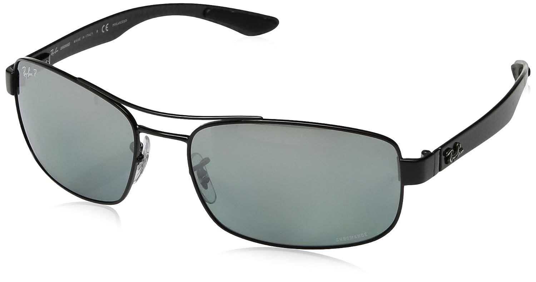 a260753a639 Amazon.com  Ray-Ban Men s RB8318CH Chromance Lens Rectangular Metal  Sunglasses