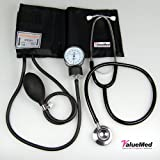 Valuemed - Aneroid Sphygmomanometer Blood Pressure Monitor Meter + Free Double Head Stethoscope + Case