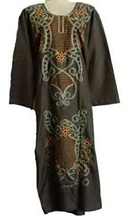 1d315c7483f9c5 bonballoon Egyptian Cotton Embroidered Kaftan Caftan Dress Jilbab Galabeya  Abaya Islamic (439) (M