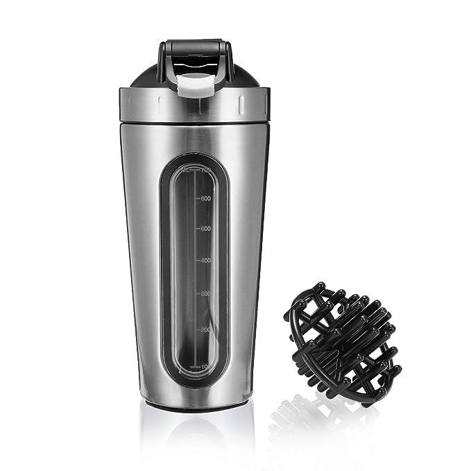 43 opinioni per Slimerence Shaker per Proteine, Bottiglia Shaker con la Palla Misceratore per