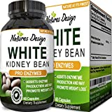 Pure White Kidney Bean Extract Carb Blocker – Natural Supplement for Appetite Control & Health – Weight Loss & Energy Pills for Women & Men – Digestive Support Capsules for Fat Loss