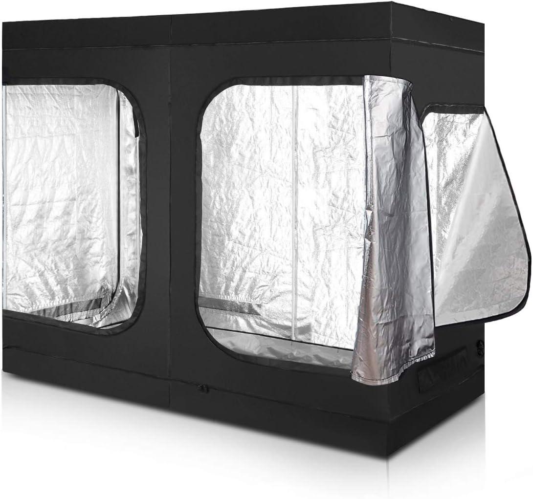 Giantex Plant Growing Tent Indoor Grow Tent Room Reflective Mylar Hydroponic Non Toxic Clone Hut 6-Size Indoor Grow Tent 96 X48 X78