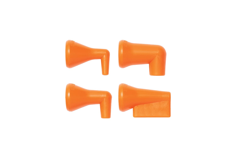 Acetal Copolymer Loc-Line Coolant Hose Component Pack of 4 1//4 Hose ID 90 Degree Nozzle 1//16 Diameter