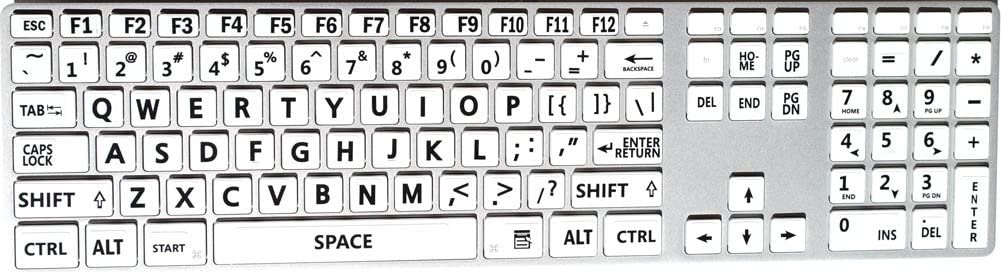 Five 5 English US Large Print Letters Extra Bold Keyboard Stickers Black Yellow White Gray BACKGROUNS 5 Colors in ONE Order