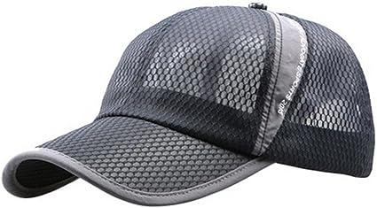 Men Outdoor Quick-drying Visor Caps Sport Cool Summer Running Baseball Mesh Hat