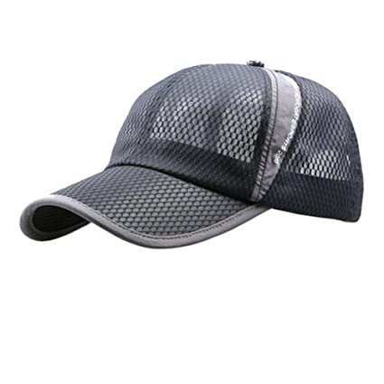 48ea38f5e824a Summer Sports Baseball Cap Mesh Breathable Quick Dry Outdoor Running Cap  Adjustable Anti UV Sun Protection