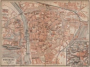 Karte Würzburg Und Umgebung.Würzburg Town City Stadtplan Umgebung Umgebung Würzburg Bayern