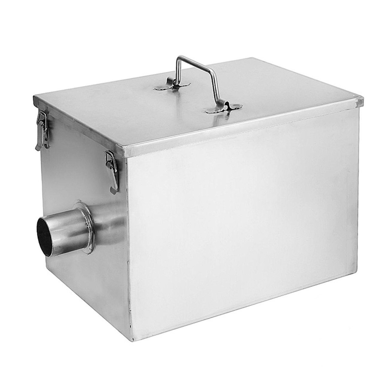 BEAMNOVA 8lbs Commercial Grease Trap 5GPM Gallons Per Minute Stainless Steel Interceptor for Restaurant Kitchen