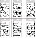 Ranger LETTER IT Clear Stamp Collection- 6 SET BUNDLE - Thank you, Wedding, Celebration, Baby, Birthday, Greetings