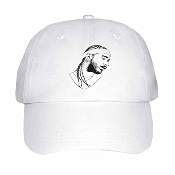 2c8d2521630 Post Malone White Iverson Cap Hat (Unisex) (Khaki) at Amazon Men s Clothing  store