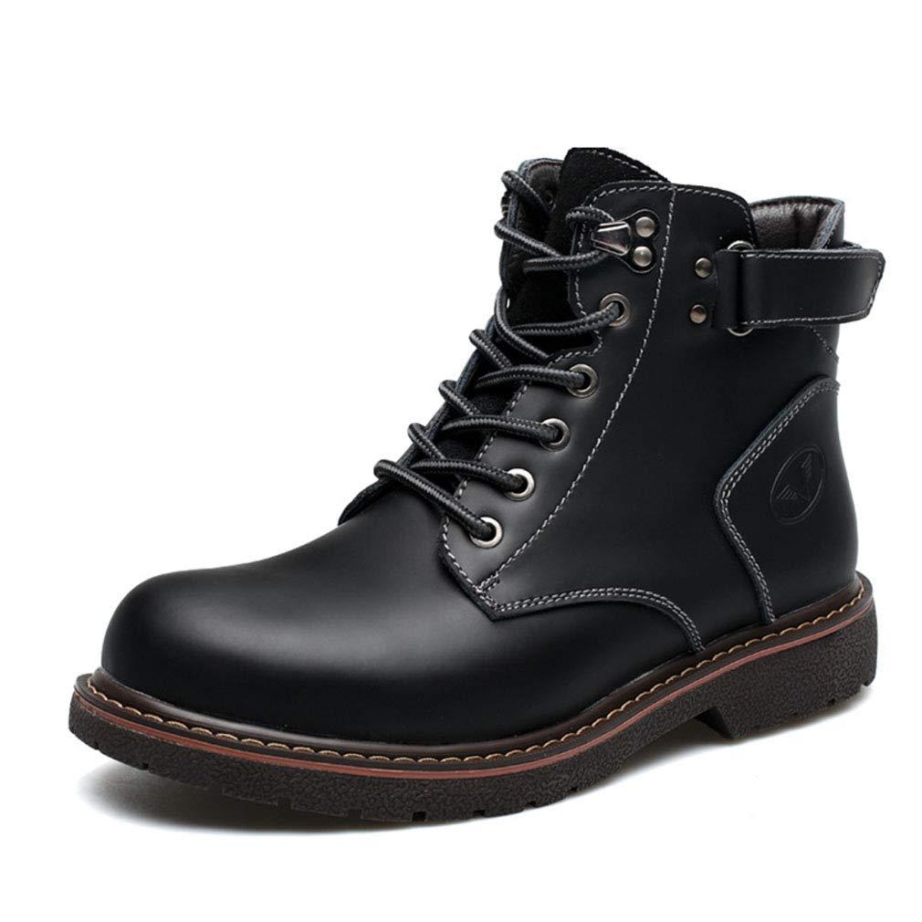 Gfphfm Men ' S Stiefel, New Winter Plus Plus Plus Velvet Martin Stiefel Casual Leather Fashion Cotton Stiefel Keep Warm Stiefel,B,39 74dc8c