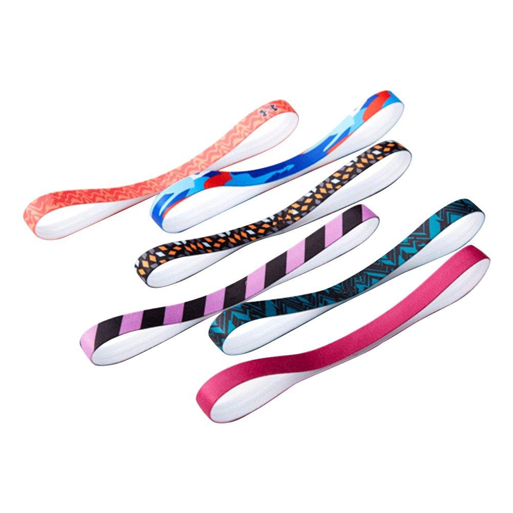 Frcolor Fasce Elastiche Capelli In Silicone Per Fitness Yoga Antiscivolo 6 Pezzi (Colore Casuale)