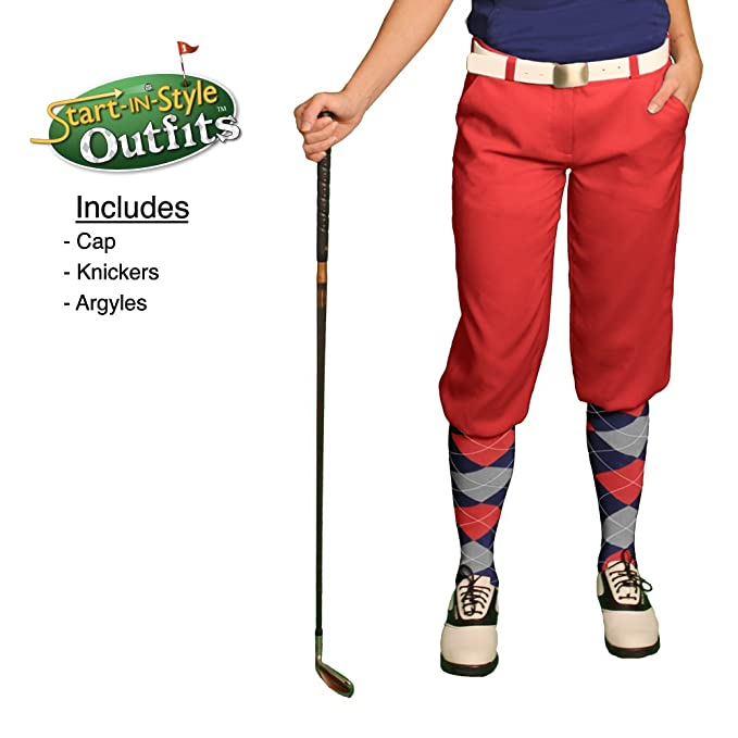 1cc395482 Amazon.com   Golf Knickers Start-in-Style Outfit - Ladies - Red   Sports    Outdoors