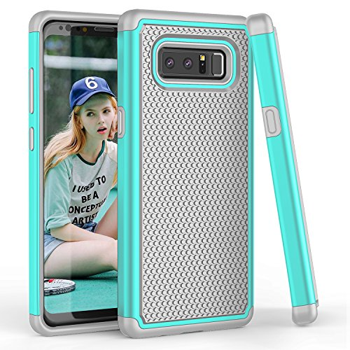 Galaxy Note 8 Case, TILL(TM) [Turquoise] [Shock Absorption] Samsung Galaxy Note 8 Case Cover with Dual Layer Hybrid TPU Bumper + Heavy Duty PC Hard Shell for Samsung Note 8 (2017 Release) All Carriers