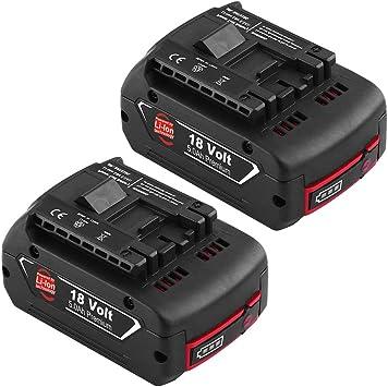 Topbatt 18V 5.0Ah Remplacement pour bosch Batterie BAT609 BAT609G BAT610G BAT618G BAT619 BAT621 BAT620 avec indicateur de charge LED Outils /électriques sans fil