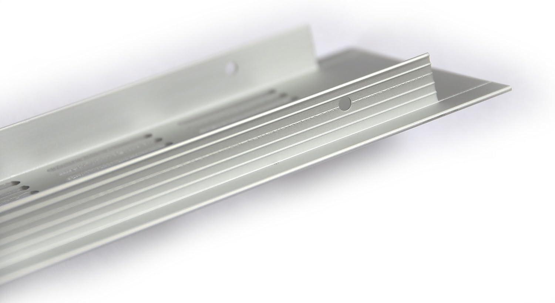 De aluminio rejilla de ventilación Filtro de chapa perforada rejilla de acero inoxidable anodizado 80 x 150 mm varios tamaños y longitudes: Amazon.es: Joyería